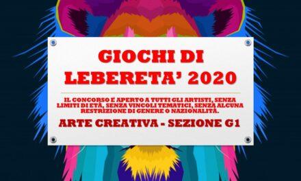 ARTE CREATIVA – SEZIONE G1 – GIOCHI DI LIBERETA' 2020