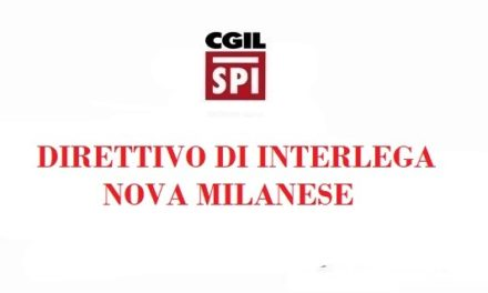 DIRETTIVO DI LEGA INTERCOMUNALE – NOVA MILANESE