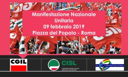 MANIFESTAZIONE UNITARIA NAZIONALE ROMA
