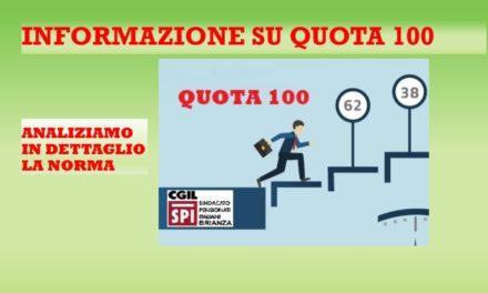 QUOTA 100 – CAPIAMONE DI PIU'