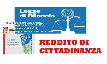 REDDITO DI CITTADINANZA