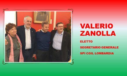 VALERIO ZANOLLA – ELETTO SEGRETARIO GENERALE SPI LOMBARDIA
