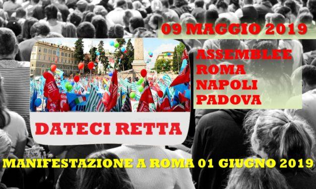 ASSEMBLEE – ROMA – NAPOLI – PADOVA
