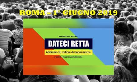 ROMA – MANIFESTAZIONE 1° GIUGNO 2019