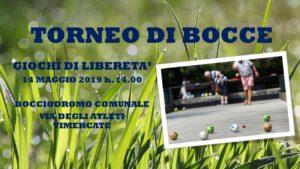 VIMERCATE - GIOCHI DI LIBERETA' 2019 - BOCCE