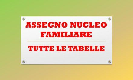 TUTTE LE TABELLE-ASSEGNO NUCLEO FAMILIARE