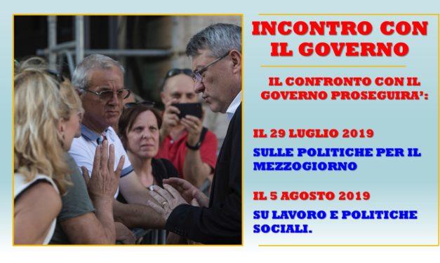 INCONTRO CON IL GOVERNO