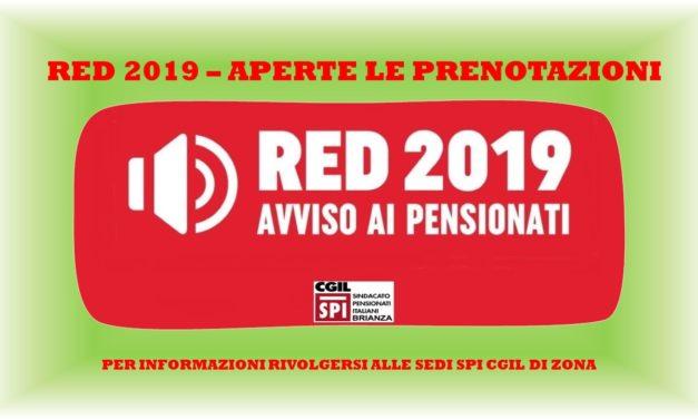 APERTE LE PRENOTAZIONI PER IL RED 2019
