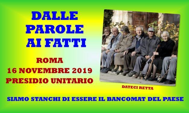 ROMA – 16 NOVEMBRE 2019 – PRESIDIO UNITARIO