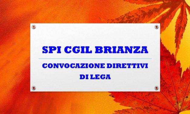 SPI CGIL BRIANZA – CONVOCAZIONE DIRETTIVI