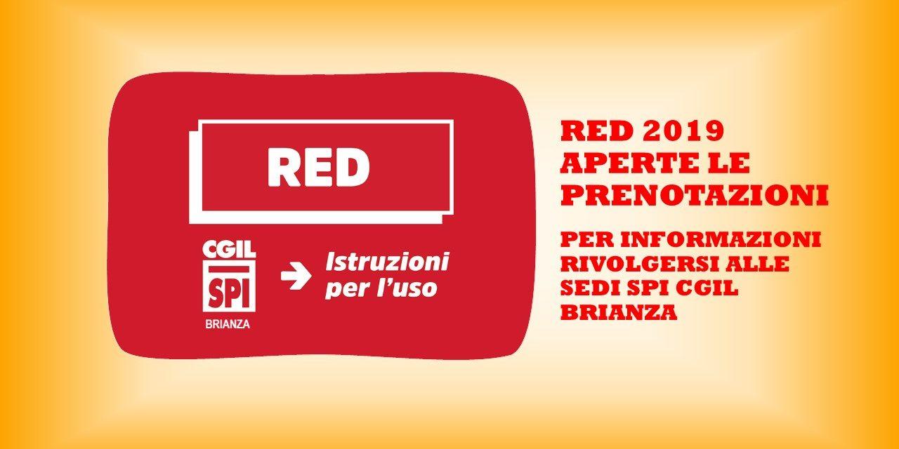 RED 2019 – APERTE LE PRENOTAZIONI