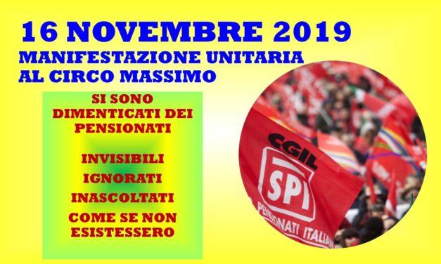 ROMA – MANIFESTAZIONE UNITARIA PENSIONATI