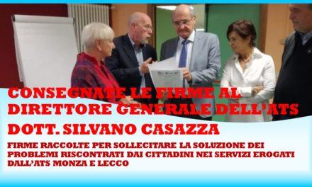 CONSEGNA DELLE FIRME ALL'ATS MONZA LECCO