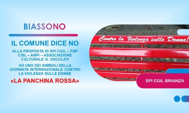 """BIASSONO – IL COMUNE DICE NO ALLA """"PANCHINA ROSSA"""""""