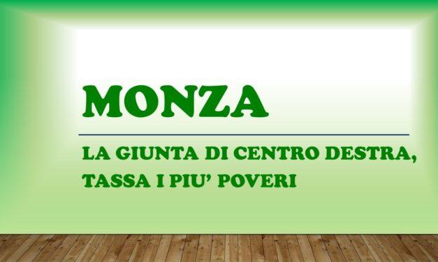 MONZA – GIUNTA DI CENTRO DESTRA, TASSA I PIU' POVERI