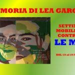 LEA GAROFALO – SETTIMANA DI MOBILITAZIONE