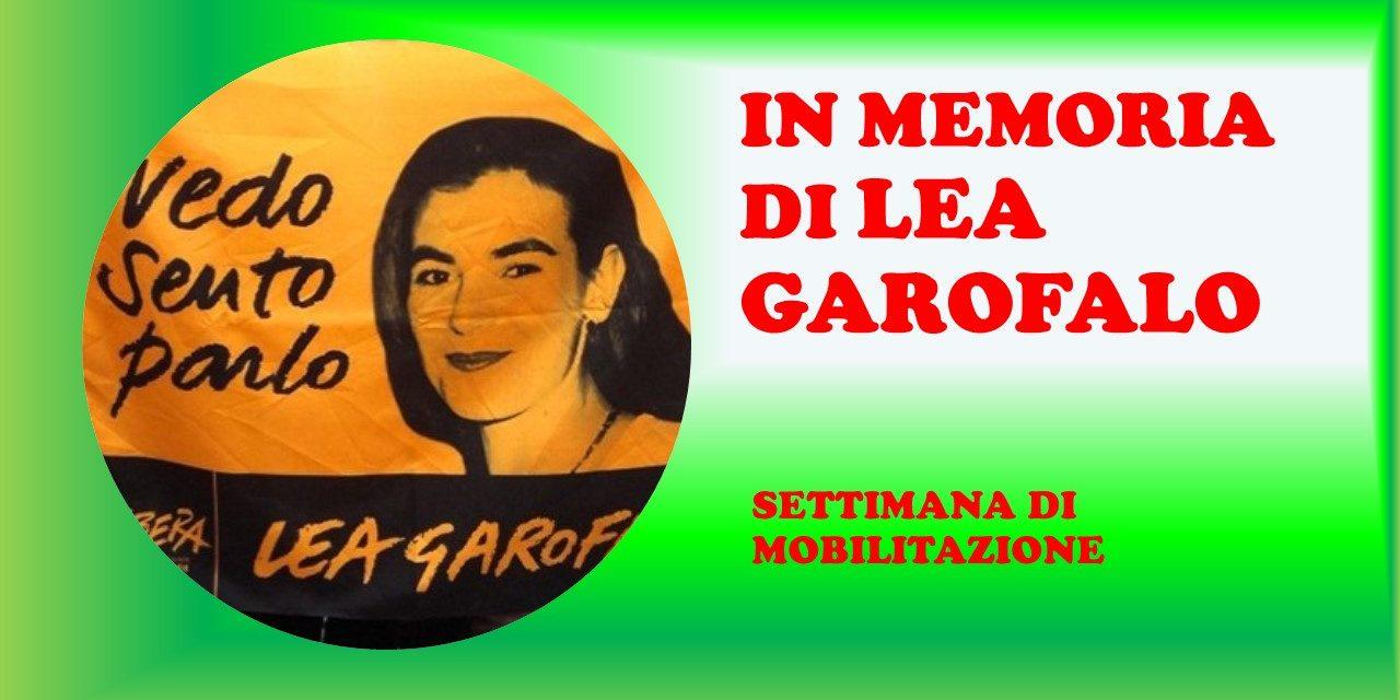 SETTIMANA DI MOBILITAZIONE IN MEMORIA DI LEA GAROFALO