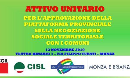 ATTIVO CGIL CISL UIL – PIATTAFORMA SOCIALE