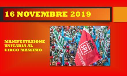 ROMA – MANIFESTAZIONE UNITARIA 16 NOVEMBRE 2019
