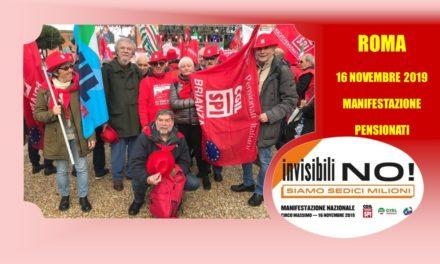 ROMA 16 NOVEMBRE 2019 – MANIFESTAZIONE UNITARIA PENSIONATI