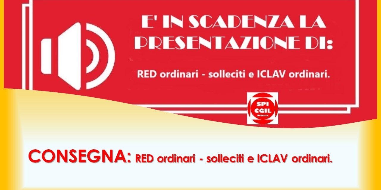 ULTIMI GIORNI PER PRESENTARE: RED – SOLLECITI – ICLAV