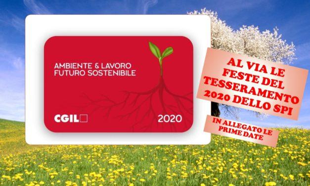 TESSERAMENTO SPI CGIL 2020 – LE PRIME INIZIATIVE