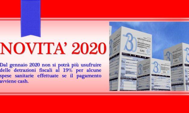 SPESE DETRAIBILI: NOVITA' 2020