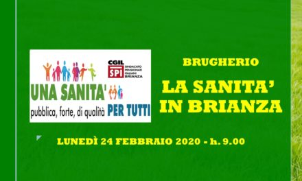 BRUGHERIO – LA SANITA' LOMBARDA