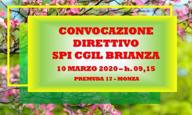 SPI CGIL BRIANZA – CONVOCAZIONE COMITATO DIRETTIVO