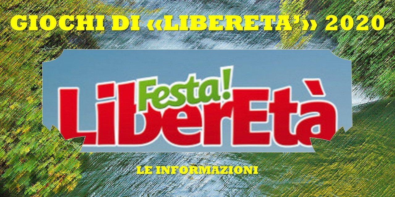 """GIOCHI DI """"LIBERETA'"""" 2020 LE INFORMAZIONI"""