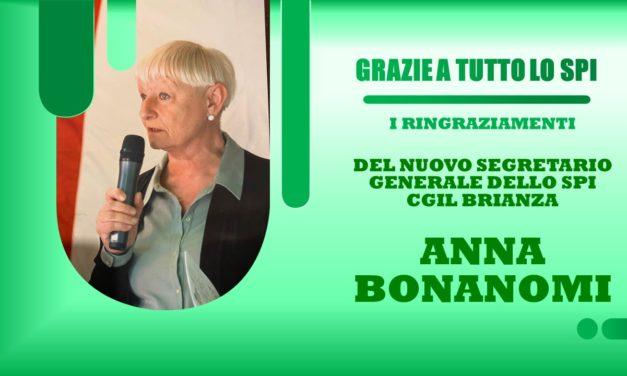 ANNA BONANOMI – RINGRAZIA LO SPI CGIL PER L'ELEZIONE