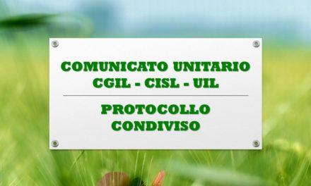 COMUNICATO UNITARIO – PROTOCOLLO CONDIVISO