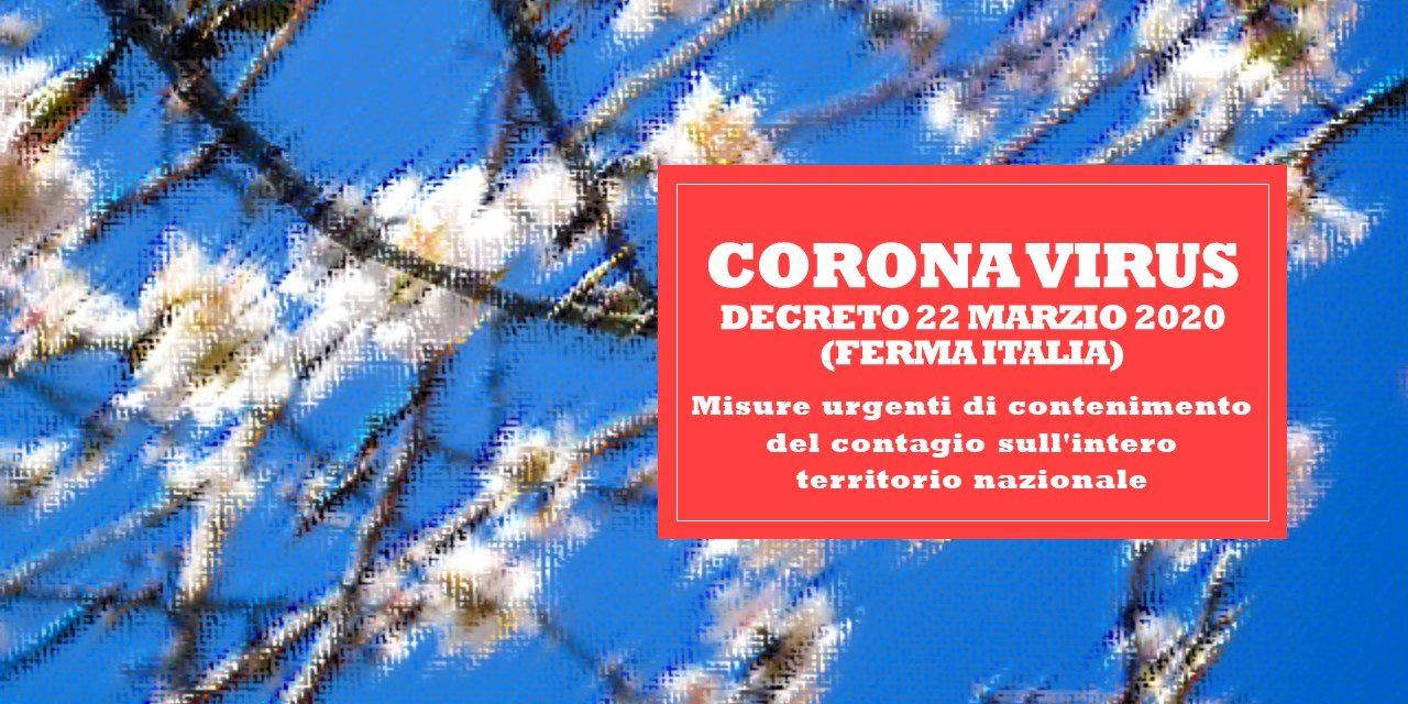 DECRETO 22 MARZO 2020 – FERMA ITALIA