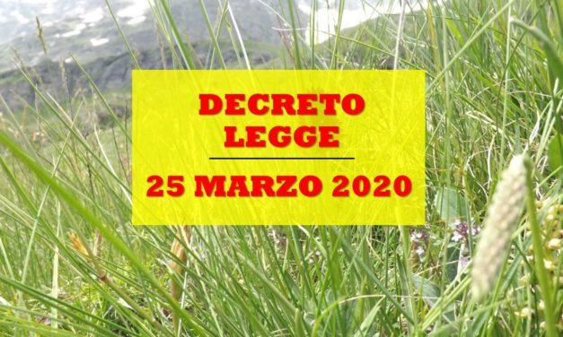 DECRETO 25 MARZO 2020 – CORONAVIRUS