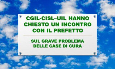 CGIL-CISL-UIL RICHIESTA INCONTRO PREFETTO – CASE DI CURA
