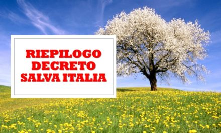 "DECRETO ""CURA ITALIA"" – RIEPILOGO"