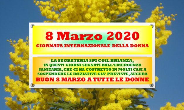 8 MARZO 2020 – GIORNATA INTERNAZIONALE DELLA DONNA