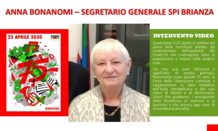 ANNA BONANOMI – INTERVENTO VIDEO 25 APRILE 2020