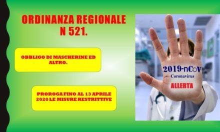 REGIONE LOMBARDIA – ORDINANZA 521