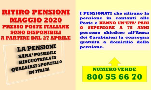 PENSIONE – MESE DI MAGGIO 2020