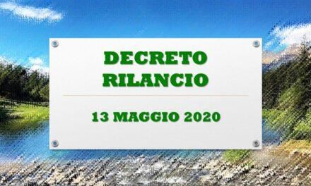 DECRETO RILANCIO – 13 MAGGIO 2020