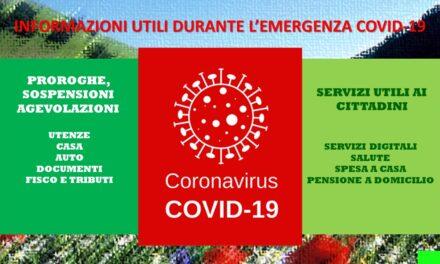 COVID-19 – INFORMAZIONI UTILI