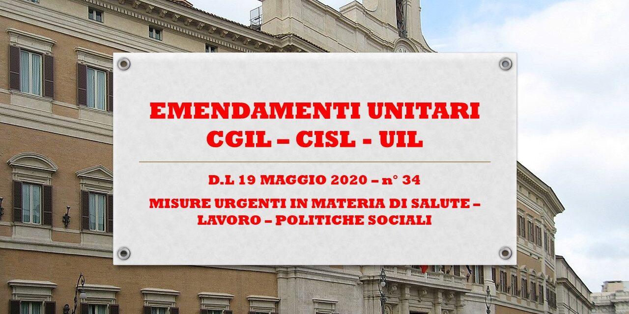 EMENDAMENTI UNITARI – DECRETO LEGGE 19 MARZO – n° 34