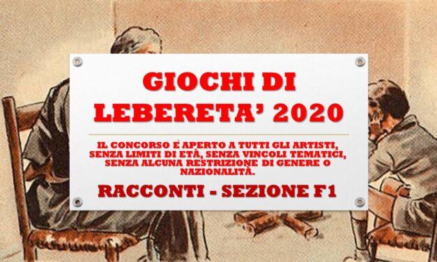 RACCONTI – SEZIONE F1 – GIOCHI DI LIBERETA' 2020