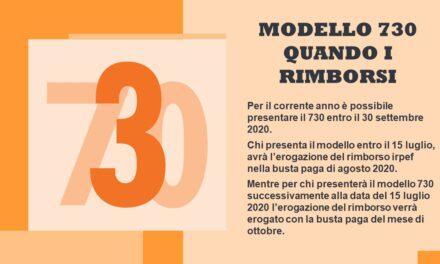 MODELLO 730 – QUANDO I RIMBORSI