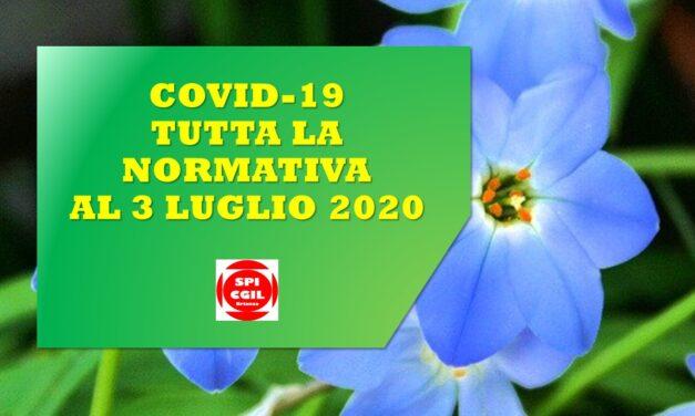 TUTTA LA NORMATIVA COVID-19 AL 3 LUGLIO 2020