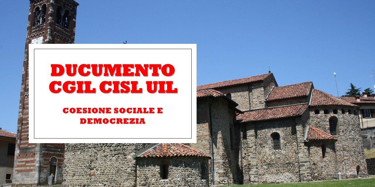 CGIL-CISL-UIL COESIONE SOCIALE E DEMOCRAZIA