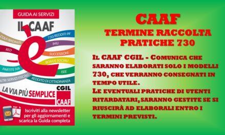 CAAF CGIL – ELABORAZIONE PRATICHE 730