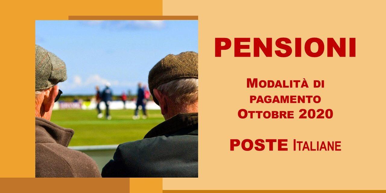 PAGAMENTO PENSIONE MESE DI OTTOBRE