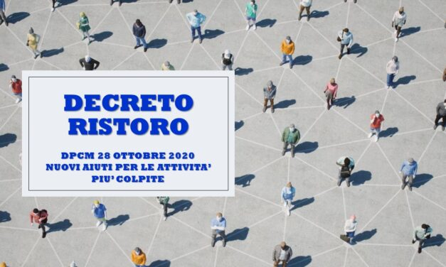 "DECRETO ""RISTORO"" – 28 OTTOBRE 2020"